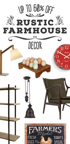 Rustic Farmhouse Furniture & Décor | Up to 60% Off at dotandbo.com