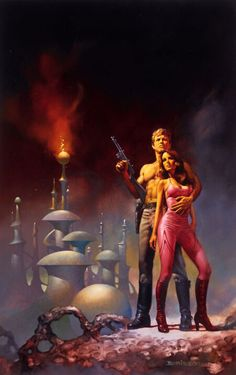 Cover art for the novel Flash Gordon: Massacre in the 22nd Century by David Hagberg, published 1980. Artist: Boris Vallejo.