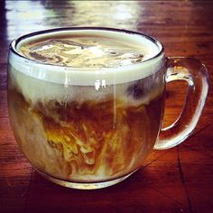 This iced yerba mate latte with almond milk looks so good we can almost taste it. How 'bout you? Thank you for making us thirsty, Anna!