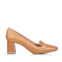 """Качині"" туфлі-лофери// 5см// mid-heel squared toe leather loafer shoes// LF50184001"