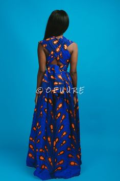 african fashion DESCRIPTION African print infinity dress Can be worn more than 10 different ways 2 side pockets Elastic Back cotton Made with high quality African print wax fabric African Maxi Dresses, Ankara Dress Styles, Latest African Fashion Dresses, African Dresses For Women, African Print Fashion, African Attire, African Wear, African Women, Ankara Mode