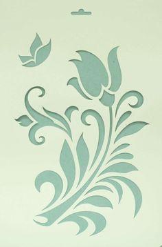 Сонет Трафарет, Прекрасный цветок, 22 х 31 см, пластиковый