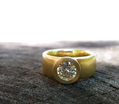 Sunken Treasure Ring gold wide band by singleBbeautiful Thin Wedding Bands, Wedding Rings, Bridesmaid Earrings, Bridal Earrings, Wedding Jewelry Sets, Bridal Jewelry, Motif Vintage, Eternity Ring Diamond, Alternative Engagement Rings