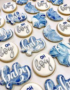 Baby Shower Treats, Baby Shower Cakes For Boys, Baby Shower Desserts, Baby Shower Brunch, Boy Baby Shower Themes, Baby Shower Cookies, Baby Shower Fun, Denim Baby Shower, Baby Boy Sprinkle