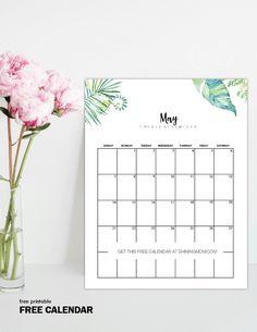 Free Printable May 2017 Calendar 12 Awesome Designs