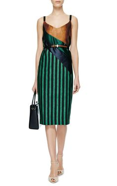 Striped Silk Midi Dress by Aquilano.Rimondi - Moda Operandi
