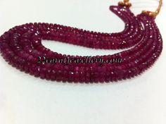 Jewellery Designs: 6mm Ruby Beads Strings