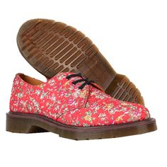 Dr. Martens Womens 1461 Print Flower Shoes Pink Clearance f4ceec2a3fc5