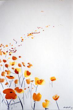 """Acuarela """"Camino sin retorno"""" Los momentos de pasión cuando se que voy a liberar el color y hacer dibujos.     elenadehados."""