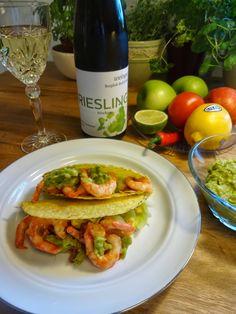 Edel's Mat & Vin : Taco med reker & guacamole ♫♫