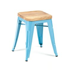 Blue Bistro Stool #kitchen #dining dotandbo.com