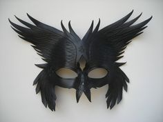 Leather Odin's Raven's mask by wingandtalon on Etsy Medicine man/wise man/elder mask? Elder/Leader mask? Ritual mask for the above person(or persons)?