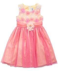Rare Editions Little Girls' Soutache & Tulle Dress