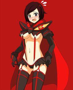 Image via We Heart It https://weheartit.com/entry/175589541 ruby rose (RWBY) cosplaying as Ryuko Matoi (Kill la Kill)