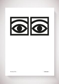 Ögon Cacao - 1956 - One Eye - Black and white A4