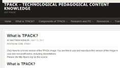 What is TPACK? BY MATTHEW KOEHLER – MAY 13, 2011 http://mkoehler.educ.msu.edu/tpack/what-is-tpack/