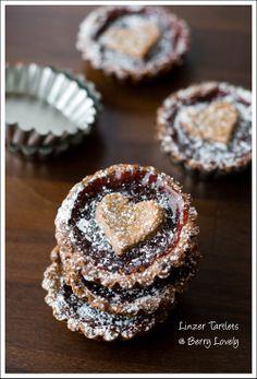 Linzer Tartlets for Valentine's Day