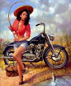 Love fishing.  Love a Harley. ❤❤❤
