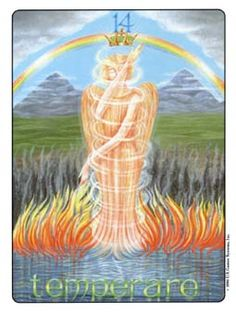 January 14 Tarot Card: Temperance (Gill deck) When you place too much emphasis on just one of your personal traits, you limit your consciousness. It is when you blend the many facets of your mind, body and spirit that you can experience life wholly and with balance