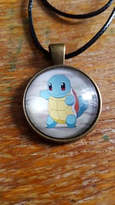 Squirtle Necklace by AwesomeOddities on Etsy