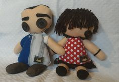 #pupazzi #puppetz #maschiofemmina #maritomoglie #amore #cucito #bottoni commissione