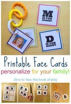 These printable face cards are such a fun craft and activity for infants and toddlers. Help develop facial recognition and familial relationships with these easy printables. Babies will love recognizing and pointing to familiar faces! Toddler Learning, Learning Activities, Kids Learning, Activities For Kids, Crafts For Kids, Homeschooling Resources, Preschool Ideas, Toddler Play, Baby Play