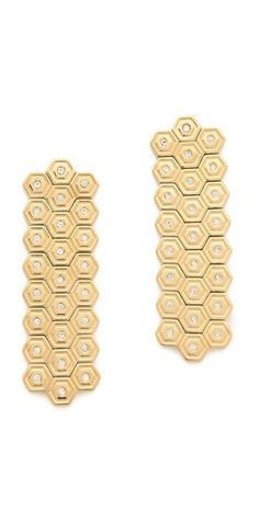 Hexagon Hanging Earrings by Rebecca Minkoff @ http://rstyle.me/~AsM3