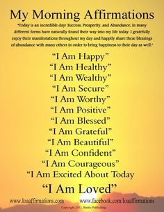Start every day in the right direction! www.loaaffirmations.com Come join our LOA Family of over 13,000 like minded people at www.facebook.com/loaaffirmations: