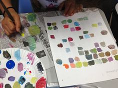 VISUAL ART: Mix 100 colors on the 100th day of school.