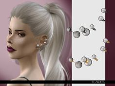 Perla Earrings: DOWNLOAD SIMS 4
