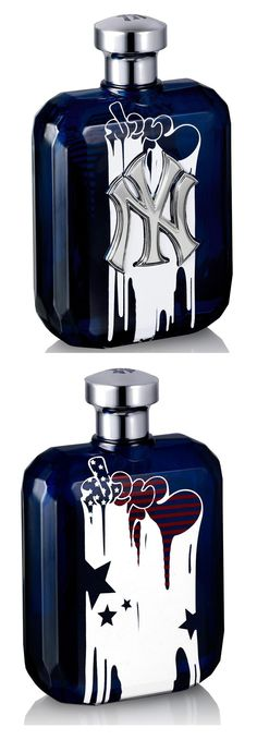 NY Yankees limited edition fragrance bottle design by Graffiti artists Mint, aka MIRF