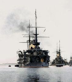 The Russian Imperial Fleet battleship photo 8 Naval History, Military History, Capital Ship, Colorized Photos, Merchant Marine, Man Of War, Navy Military, Navy Ships, Aircraft Carrier