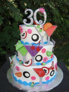 Martini Birthday Cake | Flickr - Photo Sharing!
