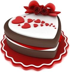 Valentine's Day Fondant Cakes | Free Valentine's Day Clipart of a yummy, heart-shaped two-layer ...