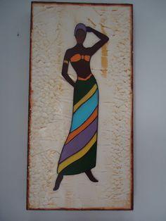 quadro africana feito por Angela maria Barth