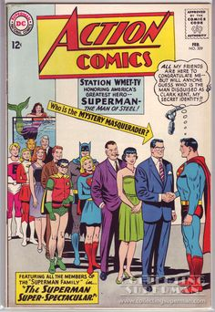 Action Comics #309, a fantastic silver age cover by the master Curt Swan. Love everything about this one, including the great lettering from the famed DC ...