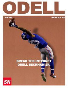 Yes he broke the internet. New York Winter, Go Big Blue, Odell Beckham Jr, Champion Sports, Nfl Football, Gorgeous Men, Daddy, Baseball Cards, Kids