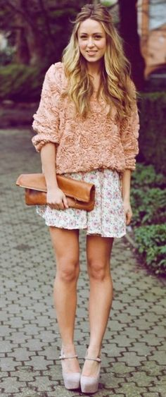 Style Know Hows: Mixed florals + nude heels
