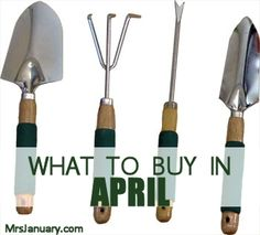 As I'm sure many of you know, stores follow a yearly sales cycle, so with a few exceptions, you can usually anticipate finding the same products on sale at the same time every year. Here's what to buy in April!