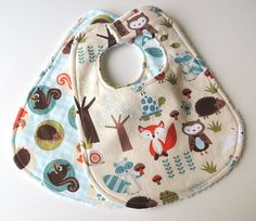 Etsy listing at https://www.etsy.com/listing/174840720/baby-bibs-forest-animal-bibs-woodland