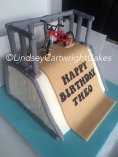 BMX skate ramp birthday cake