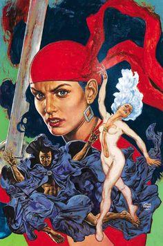 Elektra,Clock and Dagger by Glenn Fabry