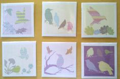 Shetland Starling Cards From Julie Williamson Designs. I adore her bird prints