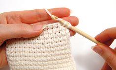 Tunisian crochet - Finishing, step 3