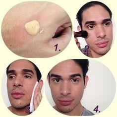 Três passos de maquiagem masculina