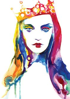 Fashion Illustration Print  - The Crown