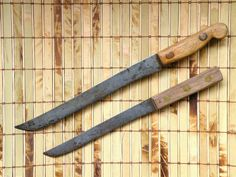 2 Old Hi Carbon Steel Blade Kitchen Knives Knife Parts Projects Knife Blades