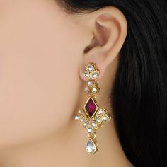 Buy Styonal Purple Rhombus Earrings Online in India @ UrbanTouch.com