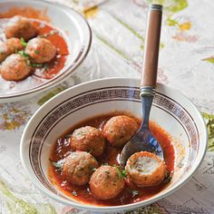 Fish meatballs in a spicy tomato sauce are a North African Jewish delicacy.