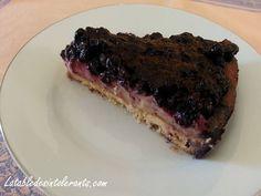 tarte aux myrtilles sans gluten , sans lait , sans sucre